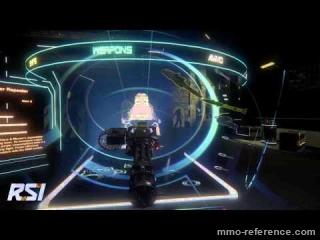 Vidéo Star Citizen - Essais d'armes dans le hangar