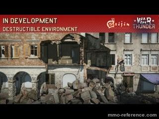 Vidéo War Thunder - Un jeu de guerre réalise ou vous pouvez détruire les décors