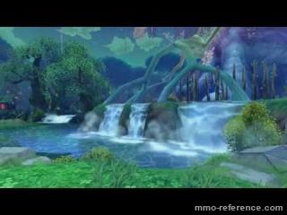 Vidéo Twin Saga - Cinématique et paysages mangas du mmorpg