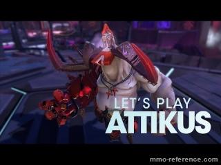 Vidéo Battleborn - Découverte de Attikus en jeu