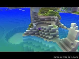 Vidéo Cube World - Environnement eau, arbres et animations