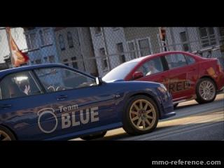 Vidéo World of Speed - La Mitsubishi Evolution X contre la Subaru Impreza WRX