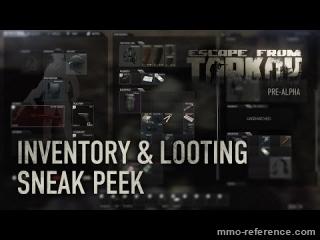 Vidéo Escape from Tarkov - Le système d'inventaire et le processus de pillage