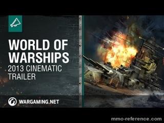 Vidéo World of Warships - Cinématique de présentation du jeu de bateau en ligne