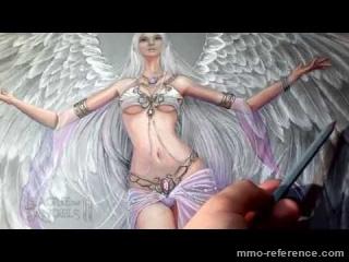 Vidéo Comment dessiner un ange féminin ? League of Angels 2