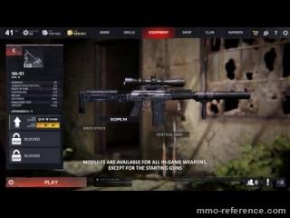 Vidéo Survarium - Démonstration des modules d'arme