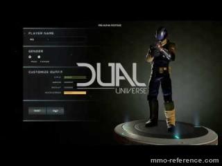 Vidéo Dual Universe - La création des personnages dans le mmorpg 2017