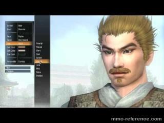 Vidéo Dynasty Warriors Online - Création des personnages